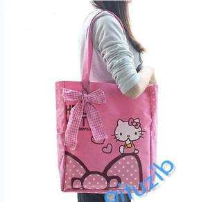 cute Hello Kitty bow shopping lady girl Hand bag pink Shoulder Bag