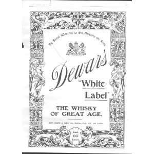 Dewars White Label Whisky 1902 Full Page Advert