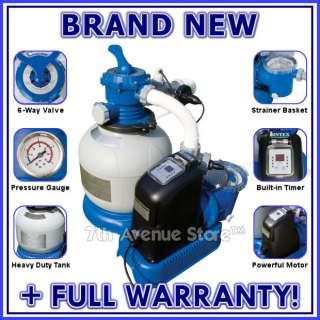 Above Ground Swimming Pool Filter Pump+Salt Chlorinator 078257399185