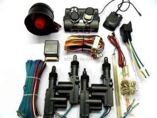 Car Alarm Remote Siren Shock Sensor Central Locking Kit