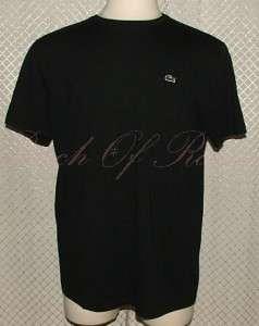 Lacoste Mens Pima Cotton Crew Neck T Shirt Tee Shirt Black XL