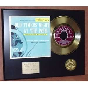 ARTHUR FIEDLER BOSTON POPS GOLD 45 RECORD PICTURE SLEEVE