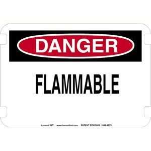 10 x 7 Standard Danger Signs  Flammable  Industrial