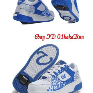 Heelys Girls Boys Trainers High Quality PU Pulley Shoes Big Size UK