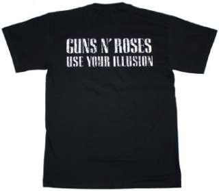 GUNS N ROSES USE YOUR ILLUSION AXL ROSE SLASH POISON RATT NEW BLACK T