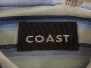NEW COAST Mens Blue Green Purple Stripe Shirt Sz XL