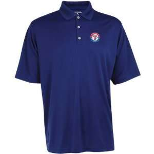 Texas Rangers Exceed Desert Dry Blue Polo Shirt  Sports