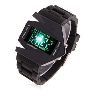 Sport Quartz Wrist Watch Bomber Aircraft Shape Date Mens Unisex