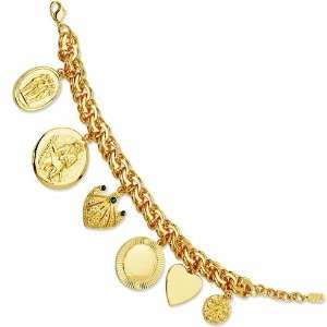 Jackies 7in Charm Bracelet/GOld Plated Mixed Metal Jewelry