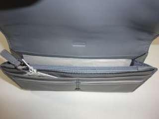 COACH 46005 KRISTIN GREY Multi Leather Spectator Envelope Slim Wallet