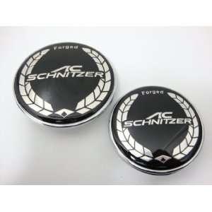 High Quality BMW SCHNITZER 82mm + 73mm Hood Trunk Emblem