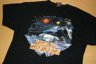 Harley Davidson Biker T Shirt L Motorcycle Rider Medina Ohio