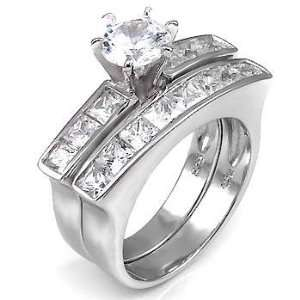 925 Silver Wedding Ring Set, Crafted with Top Quality Diamond Color