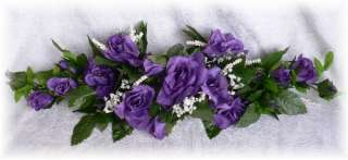 ROSE SWAG PURPLE Wedding Table Centerpiece Silk Flowers Arch Gazebo