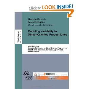 Modeling Variability for Object Oriented Product Lines