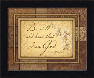 Be Still and Know that I am God Inspirational Sign