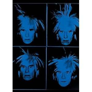 Four Blue Andys by Andy Warhol, 3x4
