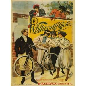 Light Bicycle Bike Cycles Ladies MAN Flowers French France