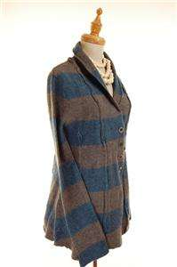 NEW AUTH Free People Line of Latitude Knit Wool Cardigan Blue M