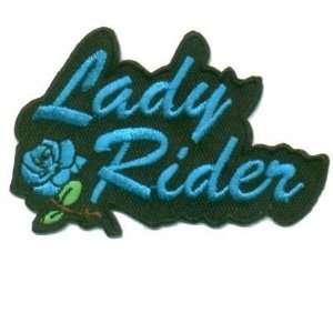 Rider Blue Rose Quality Ladies Biker Vest Patch!!!: Everything Else