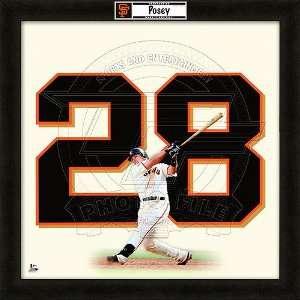 San Francisco Giants Buster Posey 20x20 Uniframe Sports