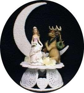 DEER HUNTING Funny bride WEDDING CAKE TOPPER groom TOP