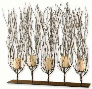 Tree Branch CANDLE HOLDER Twig 30 Brown Twisted Wire