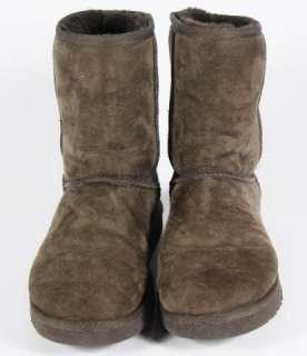 UGG Australia Brown Suede Boots Fleece Lined 10