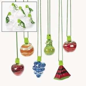 Fruit Sand Art Bottle Necklaces   Craft Kits & Projects