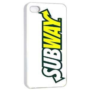 Subway Logo Case for Iphone 4/4s (White)