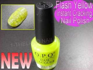 New  Flash Yellow Instant Cracking Polish  Nail Art