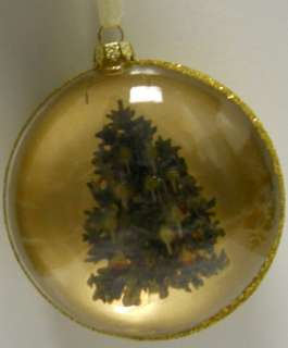DECORATED CHRISTMAS TREE GOLD ORNAMENT NWT