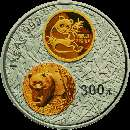 5oz silver coin 30th anni of the issuance of Chinese panda gold coin