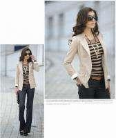 Korea OL Womens/Ladies Slim Business Suit Double breasted Jacket