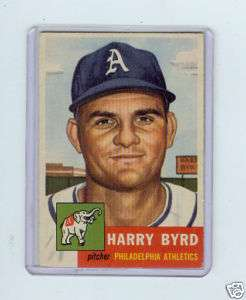 1953 TOPPS #131 HARRY BYRD   PHILADELPHIA ATHLETICS AS