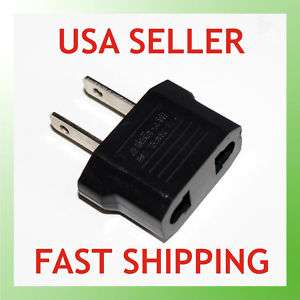 EUROPEAN EU to US USA TRAVEL PLUG ADAPTER Converter NEW