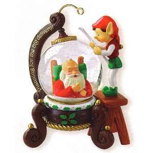 Carlton Heirloom Right On Schedule Water Globe Christmas Ornament