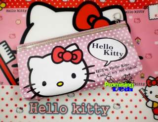 Hello Kitty Stationery Make up Pencil Bag Pouch Case