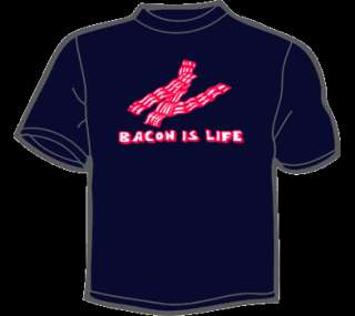 BACON IS LIFE T Shirt MENS funny vintage 80s meat candy