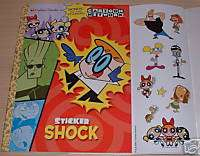 Cartoon Network Color & Sticker Book Dexter, Johnny +