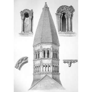 GERMANY Schelestadt Tower and Capital Details of Church of