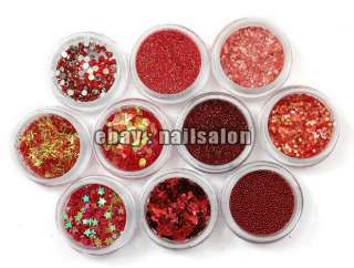 NEW 80 Pot Nail Art Glitter Dust Rhinestone Spangle Powder free