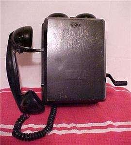 Electric Antique Wood Wall Phone N717CG Hand Crank Telephone NR