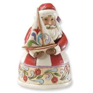Jim Shore Heartwood Creek Small Santa With Sailboat Figurine Jewelry