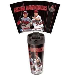 MLB Arizona Diamondbacks Travel Mug   Set of 2  Kitchen