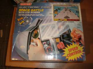80S VINTAGE SPACE BATTLE BLUE BOX MIB ELECTRONIC GAME LARGE SCREEN