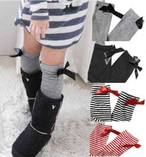 Pair New Baby BB Girl Color Leg Long Socks 0 5T GS001