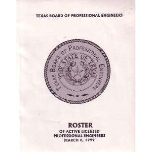 Texas Board of Pressional Engineers Roster of Active