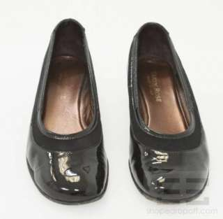 Taryn Rose Black Patent Leather Low Wedge Shoes Size 36.5