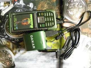 WATERPROOF DAKAR CELL PHONE 2 SIM CAMERA  2 BAND 2GB